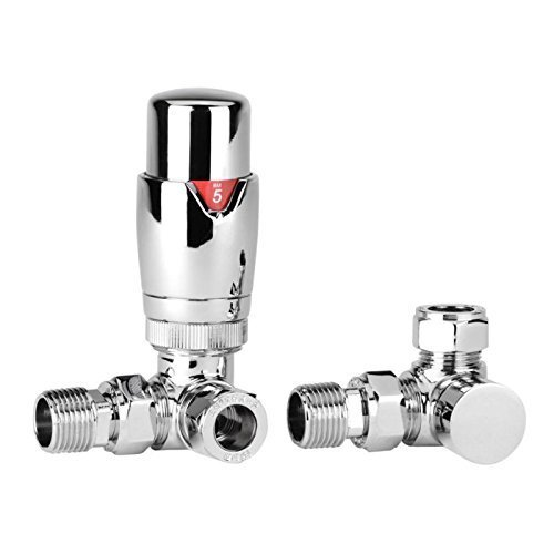 Corner Chrome Thermostatic Valves