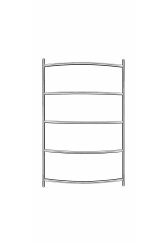 Inflecto Stainless Steel Heated Towel Rail 600mm x 400mm