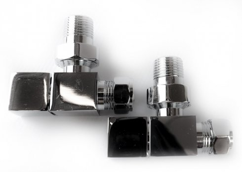 Angled Chrome Square Valves