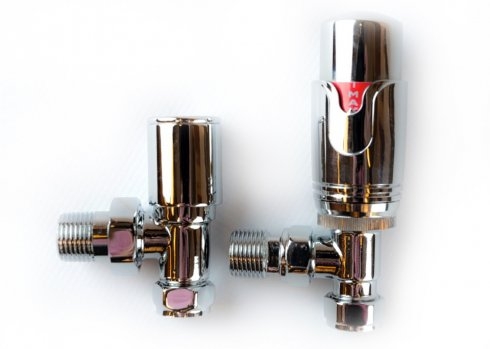 Angled Chrome Thermostatic Valves