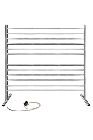 Solus 800mm x 1000mm Electric Free Standing Stainless Steel Heated Towel Rail