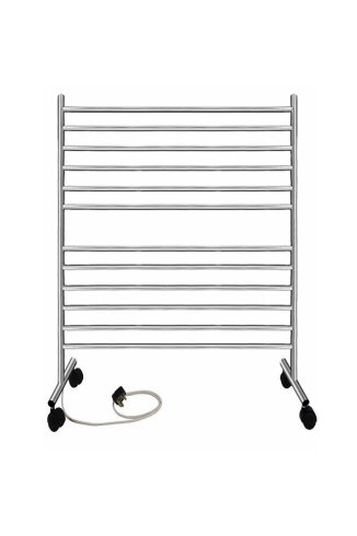 Solus 800mm x 500mm Electric Free Standing Stainless Steel Heated Towel Rail